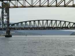 This bridge can be raised or lowered when a train goes by. Interesting to see , twpokey - June 2015