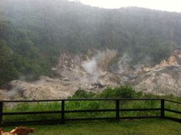 These are the sulfer emissions from inside the volcano. , Ryan P - September 2012