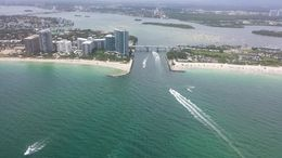 Photo of Miami The Grand Miami Air Tour Notice how the swamp water is much darker than the ocean water.