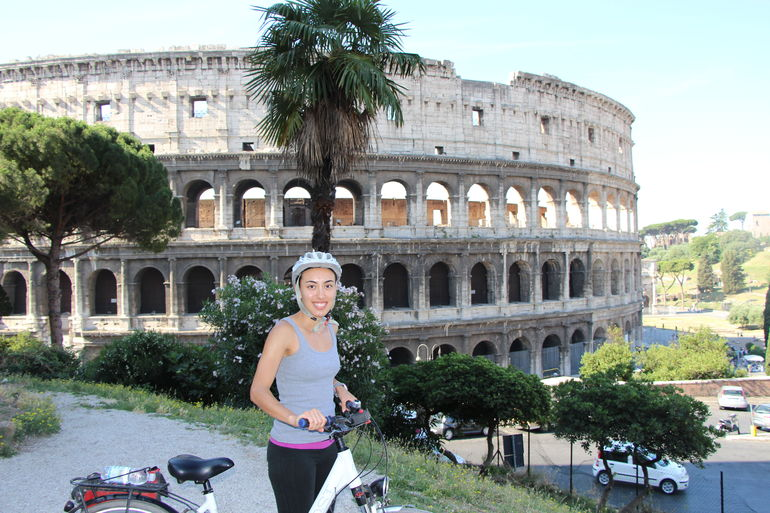 Our 1st stop - the Colesseum - Rome