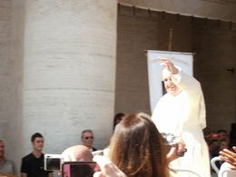 This how close we got to the Pope !! , JACQUELINE M - July 2014