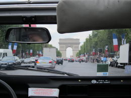 A view of l'Arc de Triomphe from the Champs Elysees in Paris - a bit blurry, but still wonderful, Barrie S - September 2011