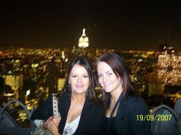 Photo of myself and my daughter at the Top of the Rock, NYC taken by a kind security guard., Amy B - September 2007