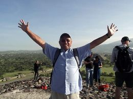 Made it atop the Pyramid of the Sun, Nathan O - August 2015