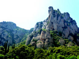 Photo of Barcelona Montserrat Royal Basilica Half-Day Trip from Barcelona Walking up to the monestery