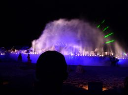 The water show was brilliant with the laser lights. - September 2008