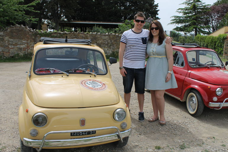 At one of our stops with the Fiats - Florence