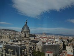Panorama of Barcelona including Basilica De La Sagrada Familia , Vicki D - September 2015