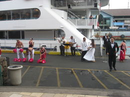 Photo of Oahu Oahu Casual Sunset Dinner and Show Cruise Dancers before the sunset dinner cruise, Oahu