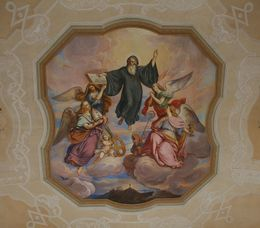 One of the paintings on the ceiling of the Benedicine Monastery of Melk. The Monastery was founded in the 11th century and extended between 1702 and 1747, Hendrik H - May 2009