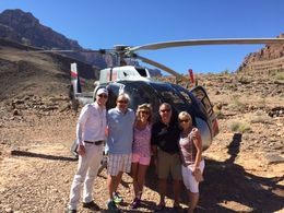 Matt, Tom, Teresa, Joe and Shelly at the bottom of the Canyon.. , Teresa F - September 2015