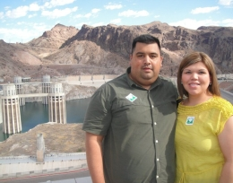 Enjoying our stop at hoover dam - July 2010