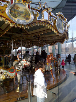 Friends of Jane's Carousel now operative in DUMBO-fun to be a kid again. , S J L - January 2012