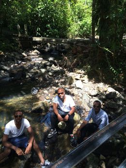Photo of San Juan El Yunque Rainforest Half-Day Trip from San Juan Relaxing in the fresh water