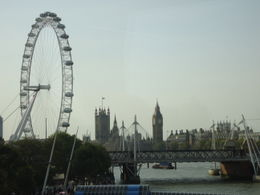 The London Eye overlooking Big Ben, Parliament and Westminster Abbey , Sharon - October 2011