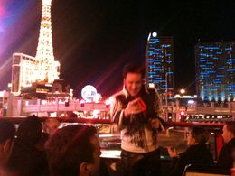 Driving towards the Paris and the Cosmopolitan Hotel, Leah - February 2012