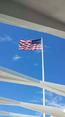 Photo of Oahu Honolulu Sightseeing Tour Including Pearl Harbor and USS Arizona Memorial God Bless America
