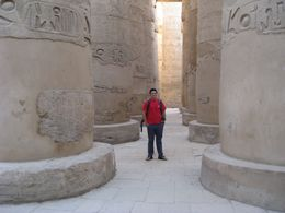 My son Lee at the temple at Karnak in Luxor. The most impressive site we visited. , Ronald M - September 2011