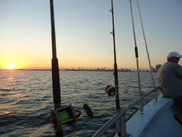 Beautiful Miami sunset heading back to shore , Jesse L - December 2014