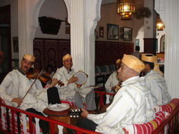Photo of Costa del Sol Tangier, Morocco Day Trip from Costa del Sol Musicians at Lunch