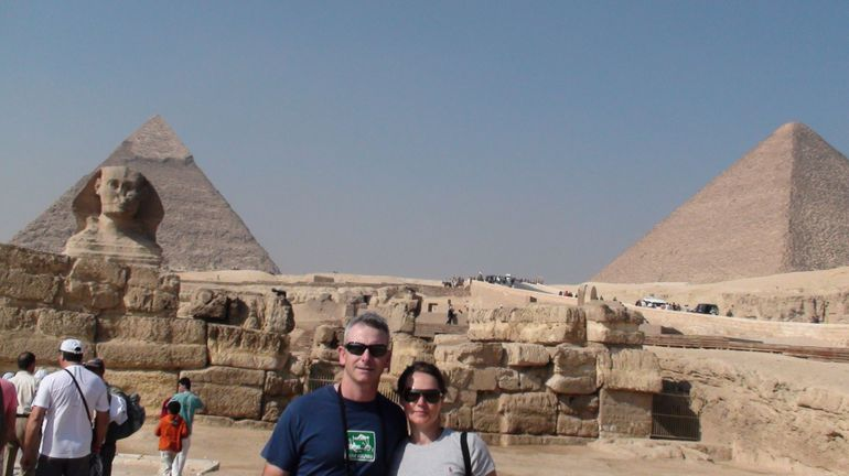 On our private tour of the Pyramids - Cairo