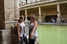 Me and Satu at the Roman Baths - August 2010