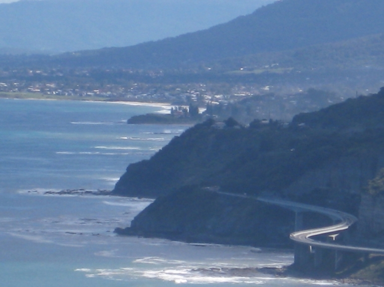 Sea Cliff Bridge from Bald Hill -