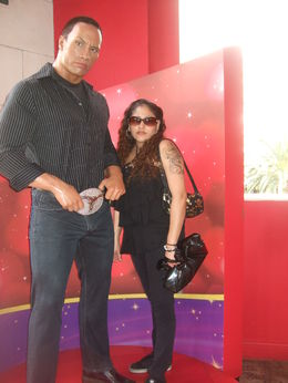 Spotted The Rock (Dwayne Johnson) at Madame Tussauds, Michele Carbajal Curiel - May 2013