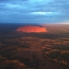 Uluru at sunset by helicopter
