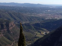 Photo of Barcelona Montserrat Royal Basilica Half-Day Trip from Barcelona View to valley below