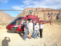 Photo of Las Vegas Grand Canyon All American Helicopter Tour Denver Bronco Fans in the Canyon