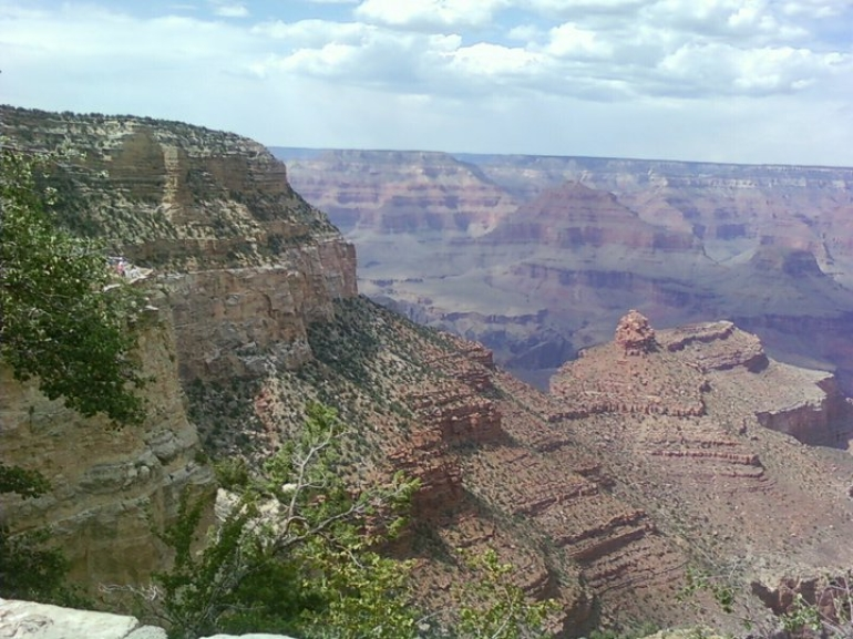 First view of the Grand Canyon - Las Vegas