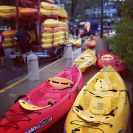 Kayaks being unloaded , Michelle H - December 2011