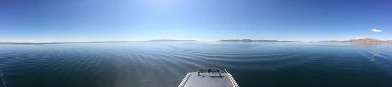 View of Lake Titicaca from on top of our boat