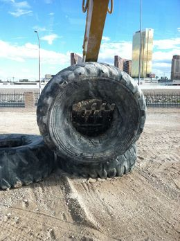 Photo of Las Vegas Dig This: Heavy Equipment Playground Moving some tires