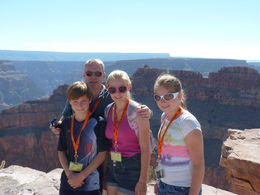 Photo of Las Vegas Grand Canyon West Rim Air and Ground Day Trip from Las Vegas with Optional Skywalk Our family on rim of Grand Canyon