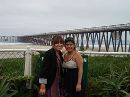 My sis and I at Rosarito Beach. Gorgeous bridge! , Cristina A* - September 2011