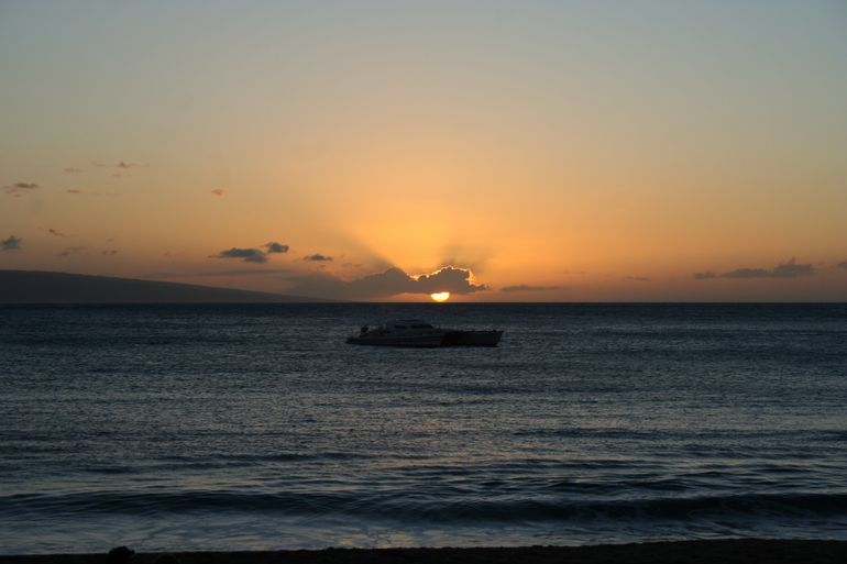 Sunset from the luau - Maui