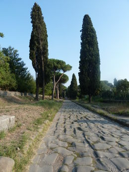 Photo of Rome Ancient Appian Way, Catacombs and Roman Countryside Bike Tour The Appian Way Bike Tour