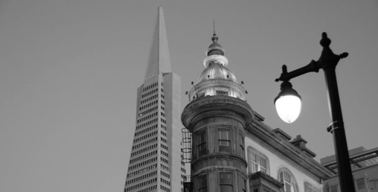 The Zoetrope & Transamerica Buildings -