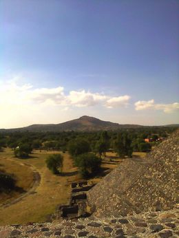 Photo of Mexico City Teotihuacan Pyramids and Shrine of Guadalupe Up on the Pyramid