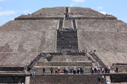 Photo of Mexico City Teotihuacan Pyramids and Shrine of Guadalupe Up we go!