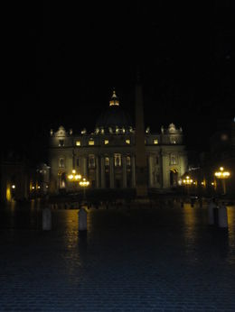 Photo of Rome Panoramic Rome by Night Tour and Dinner in Trastevere Vatican at night
