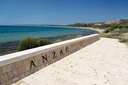Anzac Cove in Gallipoli, Turkey. Landing site of Australian and New Zealand troops in 1915. - May 2011