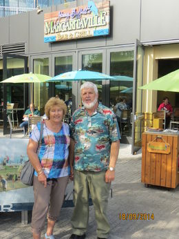 Pete and Marg at Jimmy Buffet's Margaritaville on Navy Pier , Peter C - October 2014