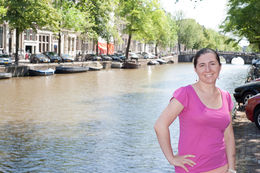 Enjoying the lovely day in Amsterdam , Russell S - July 2013