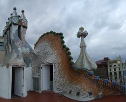The roof of Casa Battlo., Andrey Y - June 2008