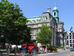 City Hall of Montreal - Carriages, Place Jacques-Cartier - May 2011