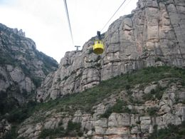 The cable car to and from Montserrat., Jessica S - January 2009