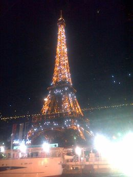 Eiffel Tower all lit up at Night , Louise S - June 2014